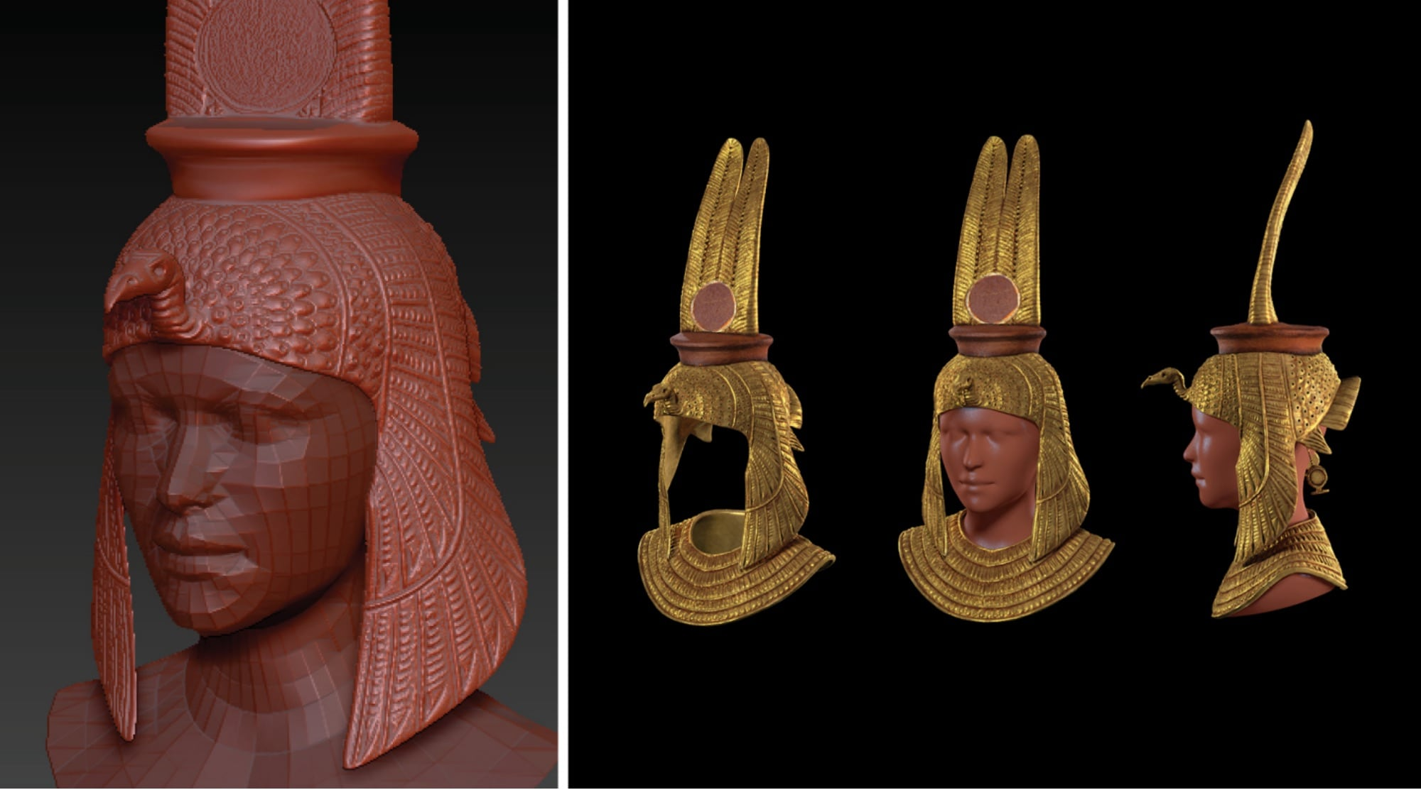 3D Renders of Nefertari Crown
