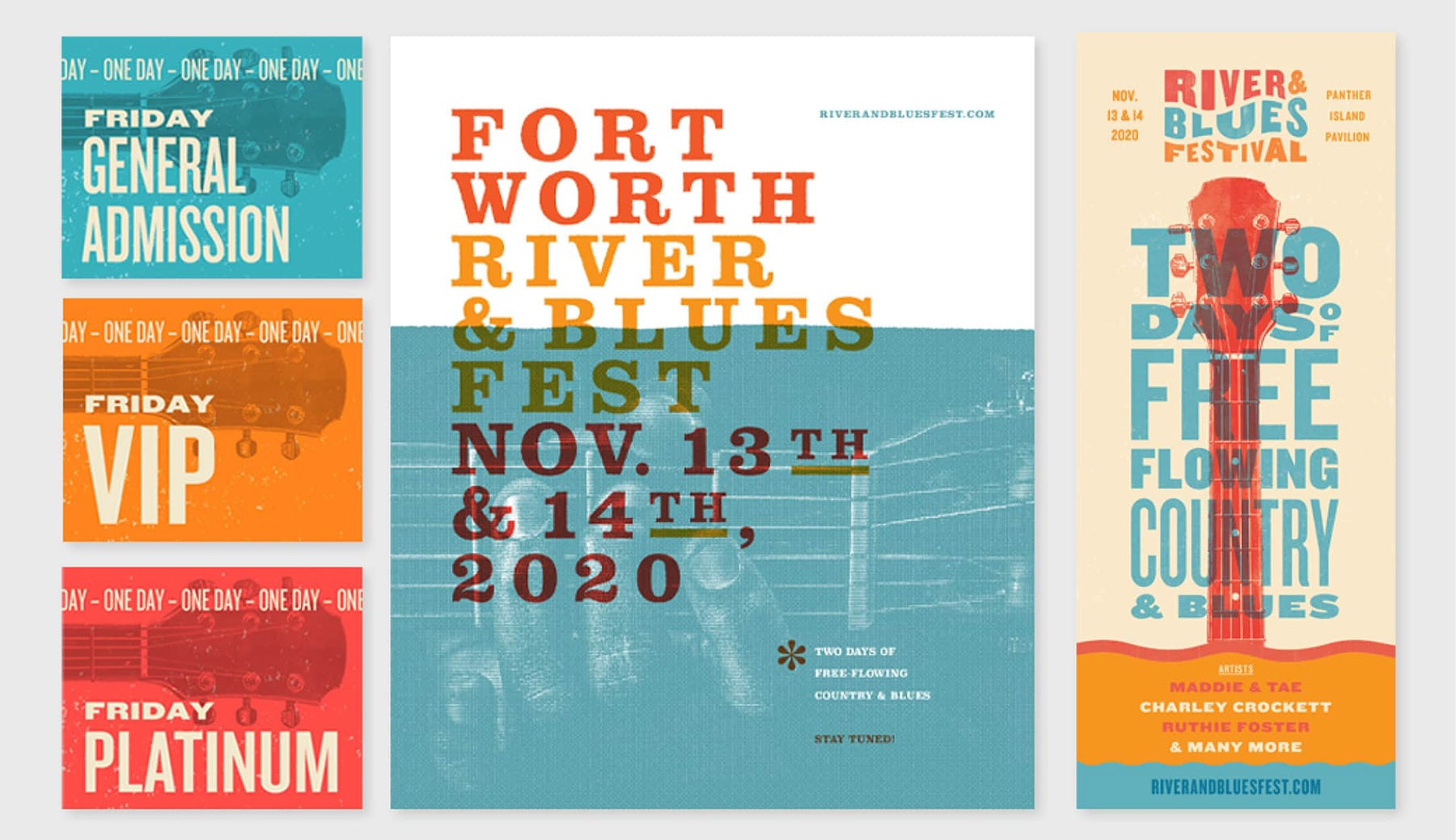 Posters for River and Blues Festival