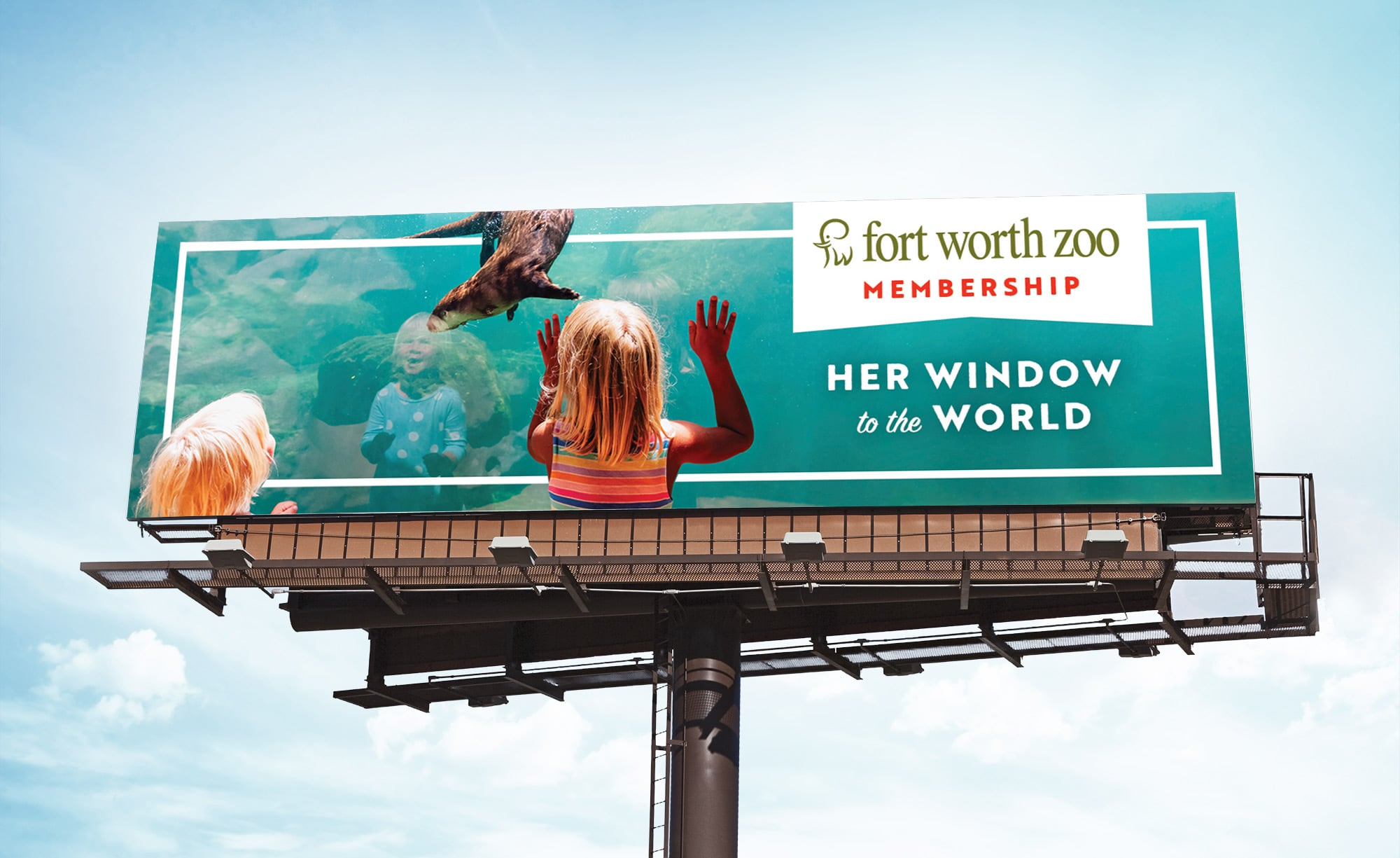 Fort Worth Zoo Membership Billboard