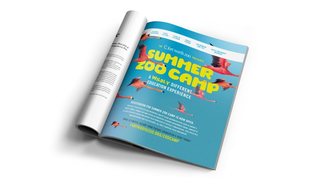 Fort Worth Zoo Camp Print Advertisment